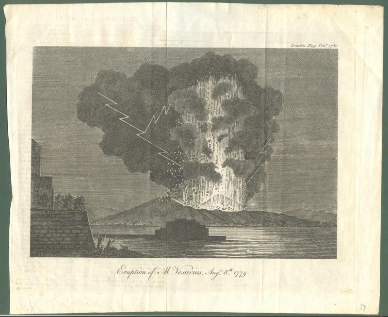 "Campania. NAPOLI, VESUVIO, 1780. ""Eruption of M. Vesuvius Aug. 8th 1779"". Incisione all'acquaforte..."