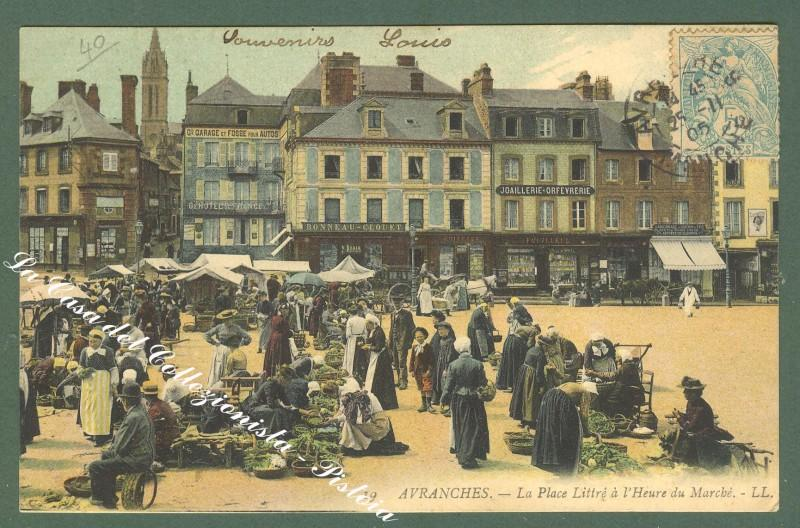 France, Basse Normandie, Manica. AVRANCHES, marché. Anno 1905.