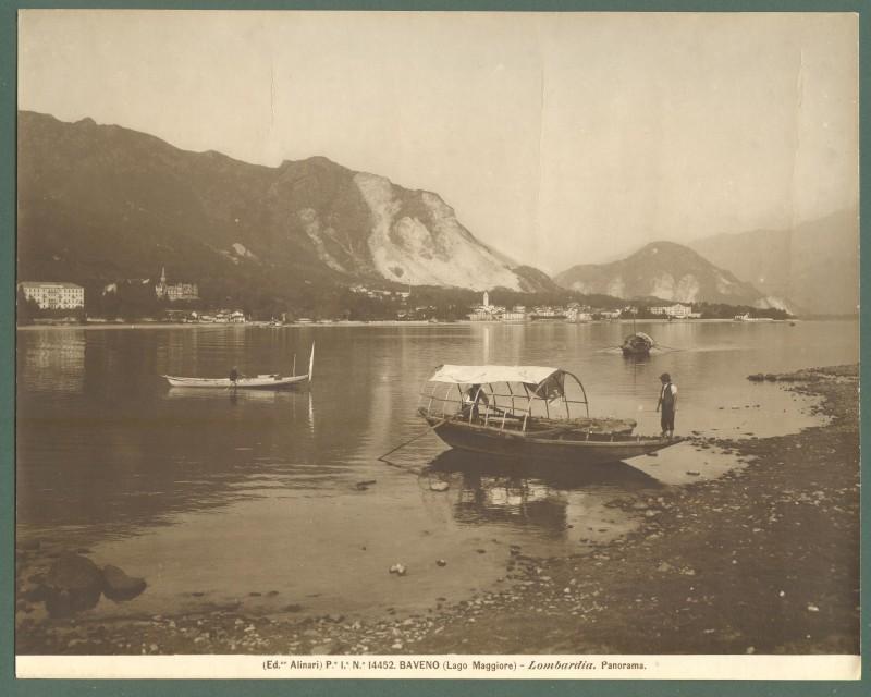 BAVENO, Lago Maggiore. Foto d'epoca Alinari, circa 1920.