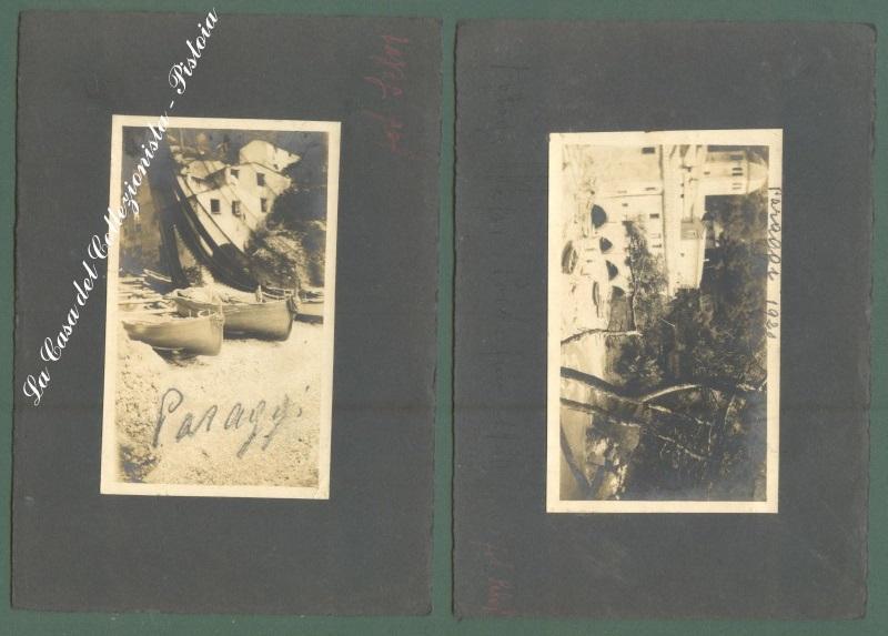 Liguria. PARAGGI, Genova. Due fotografie, anno 1920