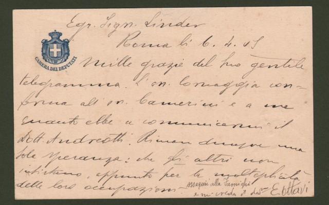 OTTAVI EDOARDO (Ajaccio 1860 - Casale Monferrato 1917). Agronomo di fama, proprietario e direttore dei periodici