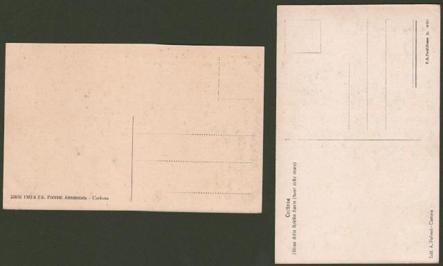 Toscana. CORTONA, Arezzo. Due cartoline non viaggiate, anni '20.