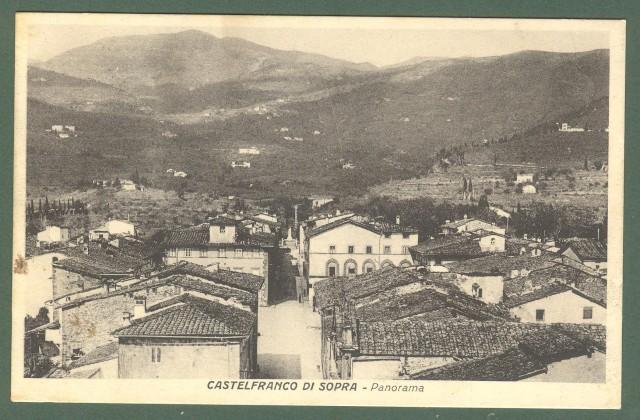 Toscana. CASTELFRANCO DI SOPRA, Arezzo. Panorama. Cartolina d'epoca viaggiata nel 1931.