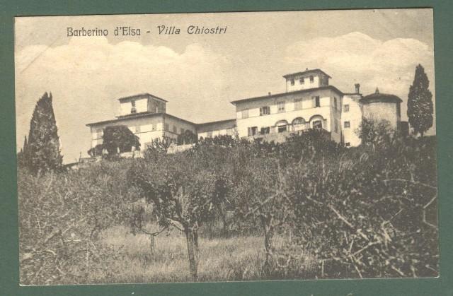 Toscana. BARBERINO VAL D'ELSA, Firenze. Villa Chiostri. Cartolina d'epoca non viaggiata, inizio 1900