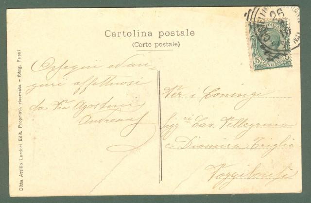 Toscana. CASTELLINA IN CHIANTI, Siena. Panorama. Cartolina d'epoca viaggiata nel 1910.