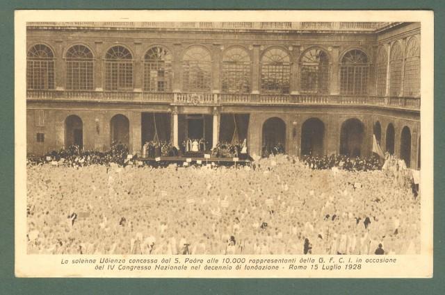 ROMA 1928. Udienza papale alle 10.000 rappresentanti della G. F. C. I.