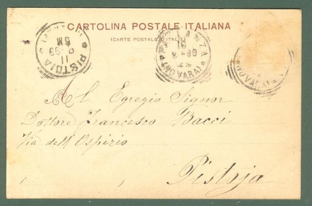 Piemonte. PALLANZA, Novara, Lago Maggiore. Cartolina d'epoca viaggiata nel 1899.