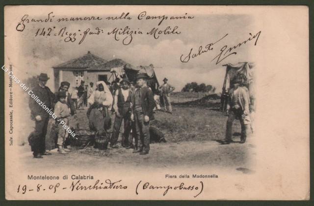 Calabria. VIBO VALENTIA. Monteleone di Calabria, Fiera della Madonnella.