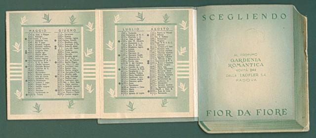 CALENDARIETTO anno 1942. GARDENIA ROMANTICA
