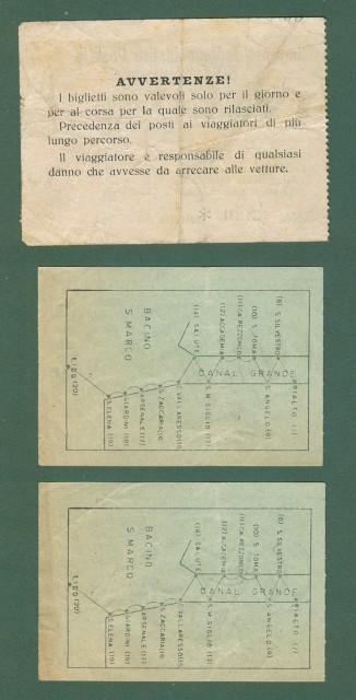 VAPORETTO - CORRIERA. Tre biglietti anni '20