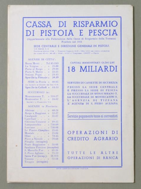 LIRICA, PISTOIA. Città di Pistoia, 12'° Stagione Lirica, anno 1959. La Traviata e La Bohà¨me. Numero Unico illustrato.
