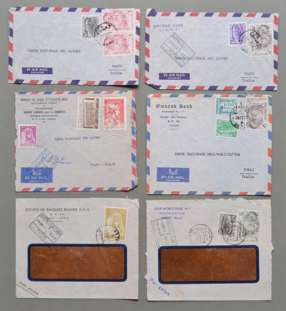 SIRIA. SYRIE. Sei air mail covers 1963-64 for Italy