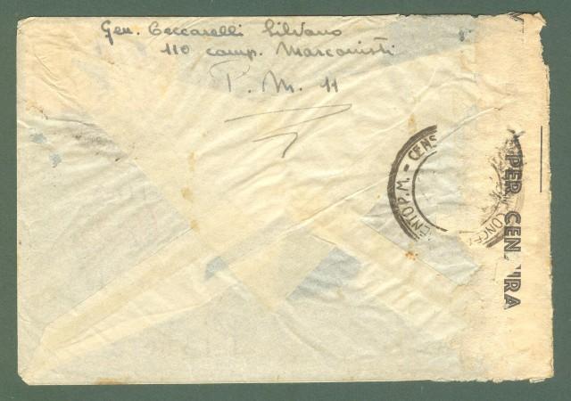 Storia postale Regno. SECONDA GUERRA. DIREZIONE POSTALE INTENDENZA TRIPOLITANIA su aerogramma del 24.08.1942.