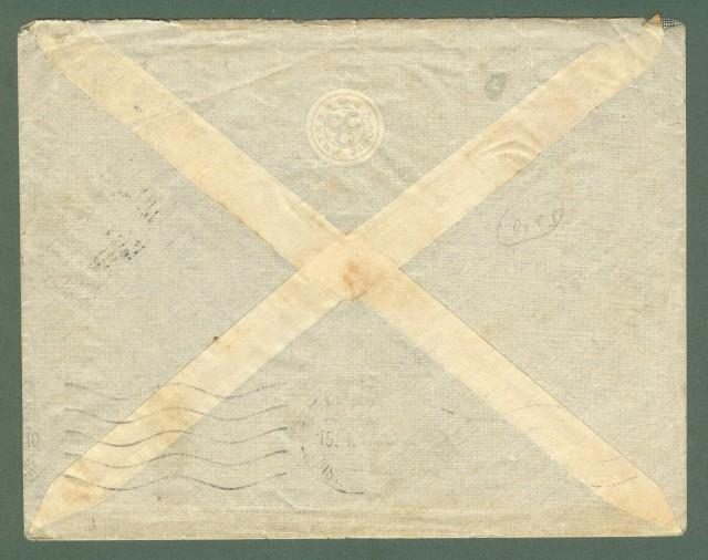 Storia postale Regno. GUERRA DI LIBIA. Guller nero POSTA DA CAMPO (BENGASI)..Lettera del 10.01.1912 per Milano.