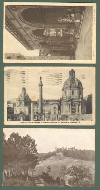 CONFINATI POLITICI. Tre cartoline (una piega centrale) del 1928 - 1929 diretta a Lipari.