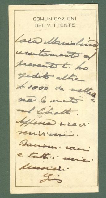 Storia postale Regno. GUERRA D'AFRICA. POSTA MILITARE N. 12(A)...su ricevuta di vaglia del 28.2.1936.