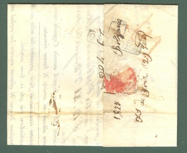 Prefilatelia. TOSCANA. Lettera del 29.09.1825 da Bolzano a Firenze.