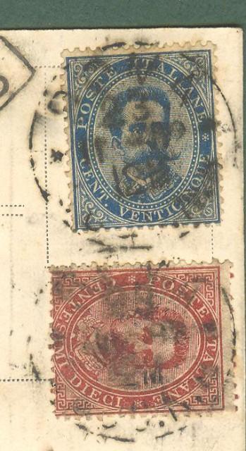 Storia postale. REGNO ITALIA. cartolina commerciale raccomandata del 23.11.1892 da Roma a Firenze.