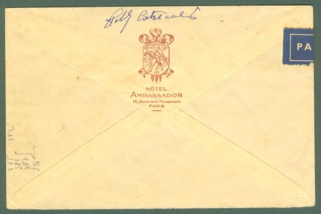 Storia postale estero. FRANCIA. FRANCE. Lettera aerea per New Castle (Inghilterra).