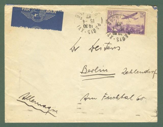 Storia postale estero. FRANCIA, FRANCE. Lettera aerea per Berlino.
