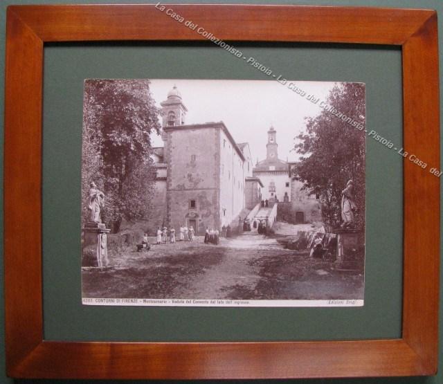 Contorni di Firenze. Montesenario. Veduta del Convento dal lato dell'ingresso.