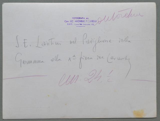 BARI. X'° Fiera del Levante. Sua Eccellenza Lantini al padiglione tedesco.