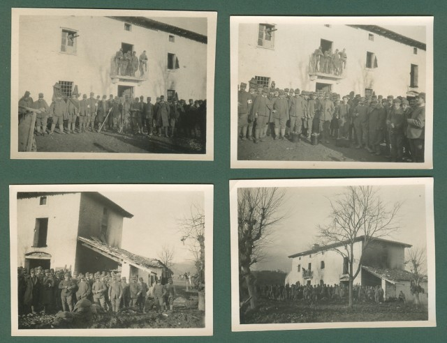 Prima Guerra (I'° Guerra). Bagni di Val Recca, Slovenia. Insieme di 4 foto databili al 1916.