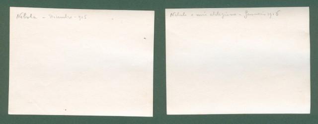 Prima Guerra. I'° Guerra. Nebola, Slovenia. 2 foto del dicembre 1915 e giugno 1916.