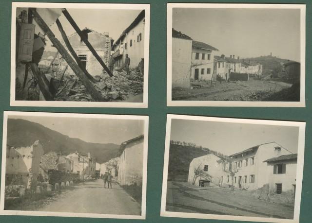Prima Guerra. I'° Guerra. Quisca, Slovenia. Insieme di 7 foto datate gennaio - febbraio 1916.