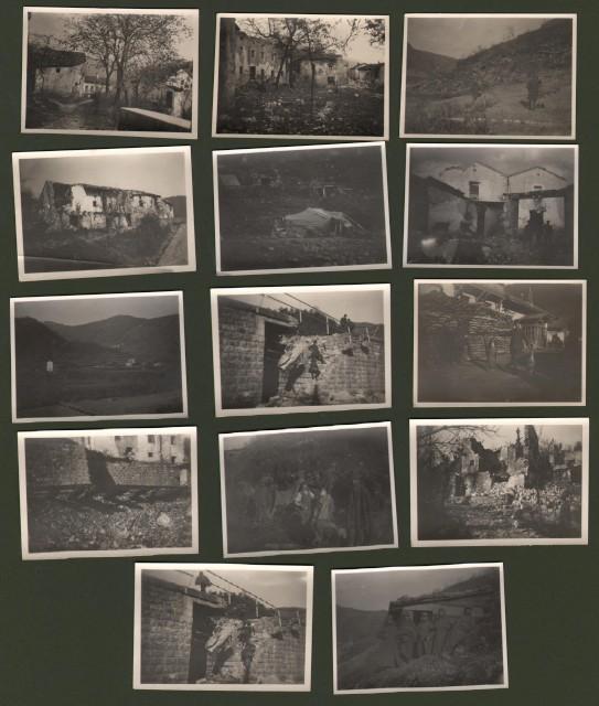 PRIMA GUERRA (I'°Guerra). Plava, Slovenia. Insieme di 14 foto del Novembre del 1915