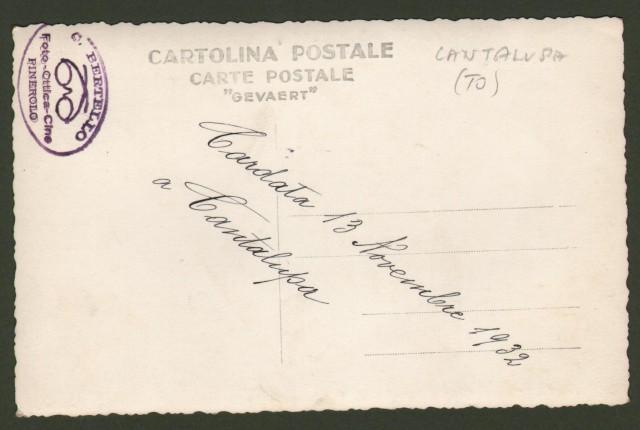 Piemonte. CANTALUPA, Torino. Cardata 13 Novembre 1932 a Cantalupa.