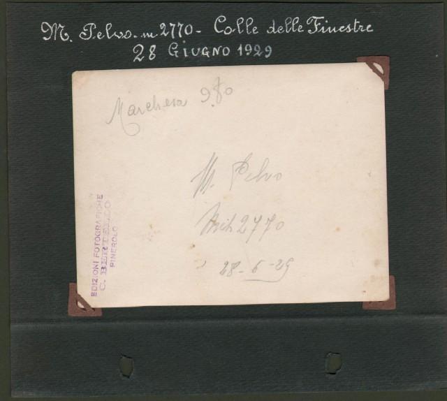 ALPI COZIE, provincia di Torino. M. Pelvo. Colle delle Finestre. 28 Giugno 1929.