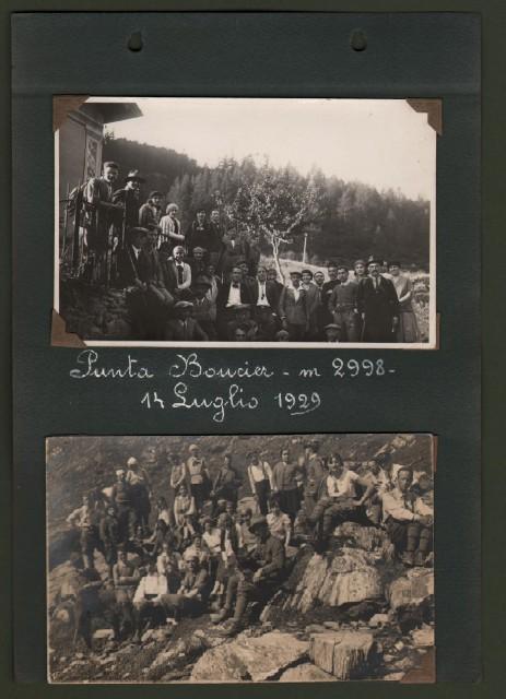 ALPI COZIE, provincia di Torino. Punta Boucier 14 luglio 1929 -  Lago Bianco 11 luglio 1929