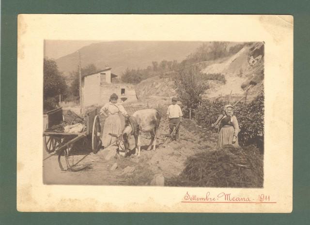 Piemonte. MEANA, SUSA, TORINO. Primo piano di contadini, Settembre 1911