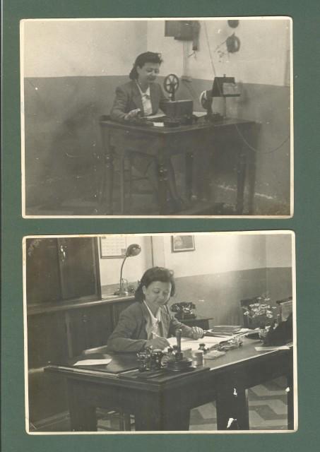 CINECITTA', Roma. Ufficio postale anno 1940. Due foto.