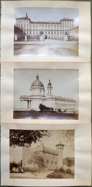 TORINO. Insieme di 6 foto all'albumina databili attorno al 1870.