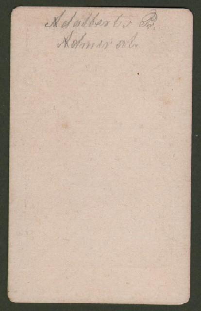 Adalberto di Prussia (1811 '– 1873). Figlio di Guglielmo di Prussia fu ammiraglio e teorico della navigazione. Raffigurato in divisa a mezzo busto.