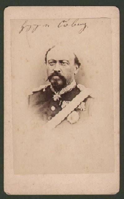 Ernst II Von Sacsen '– Coburg (1818 -1893). Secondo duca di Sassonia Coburgo. Raffigurato in divisa a mezzo busto.