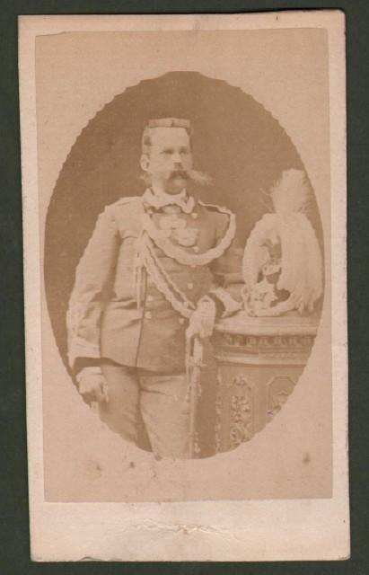 Umberto I (1844 '– 1900). Re d''Italia. Foto giovanile (circa 1875) che lo ritrae in uniforme.