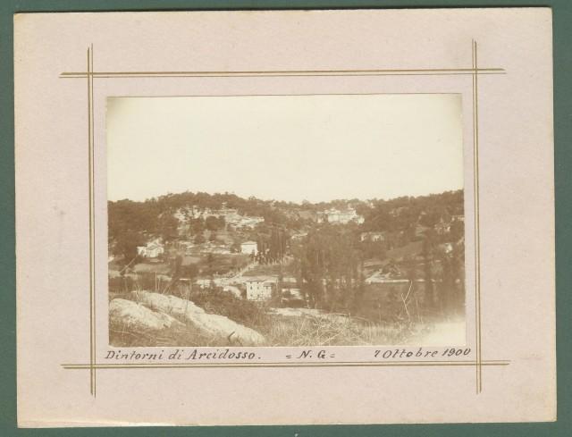 Toscana. ARCIDOSSO, Grosseto. Dintorni di Arcidosso, 7 Ottobre 1900. Foto d'epoca all'albumina