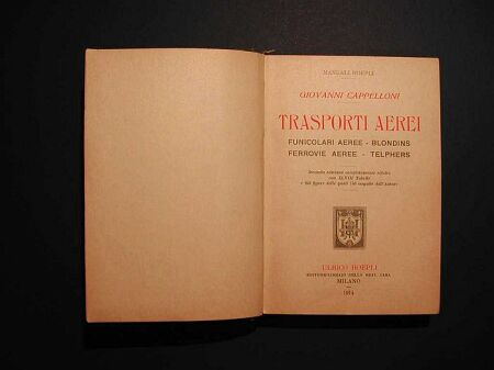 Trasporti aerei. Funicolari aeree-blondins. Ferrovie aeree-telphers.