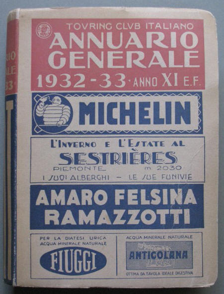Annuario Generale 1932-33. Touring Club Italiano
