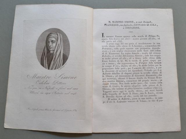REGNO DI NAPOLI. Campania. MAESTRO SIMONE, nato a Napoli ,ivi morì nel 1346. Celebre pittore.