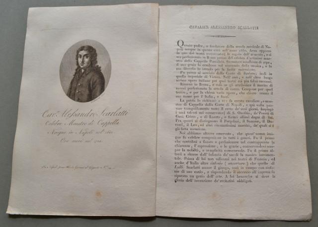 REGNO DI NAPOLI. Campania. CAVALIER ALESSANDRO SCARLATTI, nato a Napoli nel 1650, ivi morì nel 1725. Celebre Maestro di Cappella.