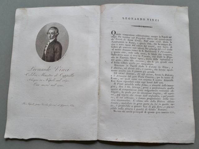 REGNO DI NAPOLI. Campania. LEONARDO VINCI, nato a Napoli nel 1690, ivi morì nel 1732. Celebre maestro di Cappella.