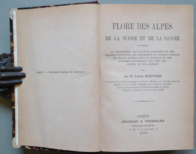 FLORE DES ALPES DE LA SUISSE ET DE LA SAVOIE.