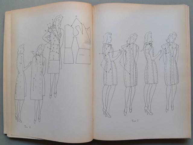 LA MODA ED IL VESTITO. Manuale enciclopedico per la creazione, taglio, prova e confezione del vestito femminile.