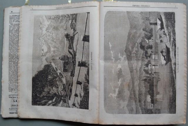 L''EMPORIO PITTORESCO. Giornale settimanale edito da Sonzogno in Milano