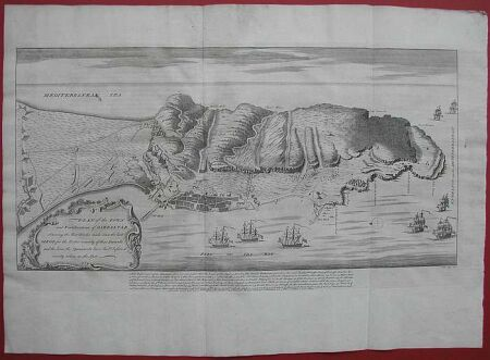 GIBILTERRA, Plan of the town and fortification of Gibraltar.