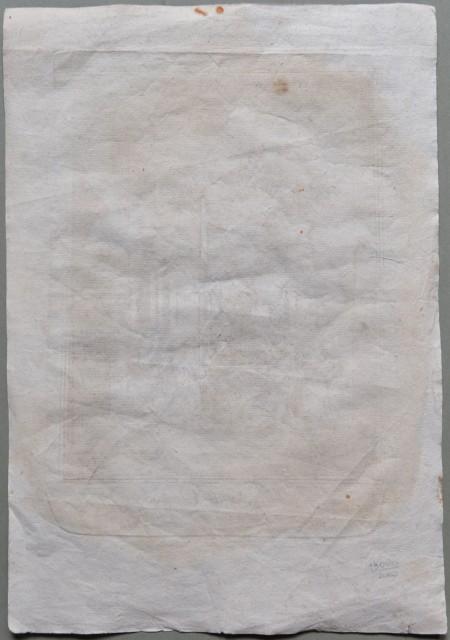 S. NICOLA DI TOLENTINO. Stampa devozionale incisa all'acquaforte e impressa da Antonio Cortesi a Macerata.